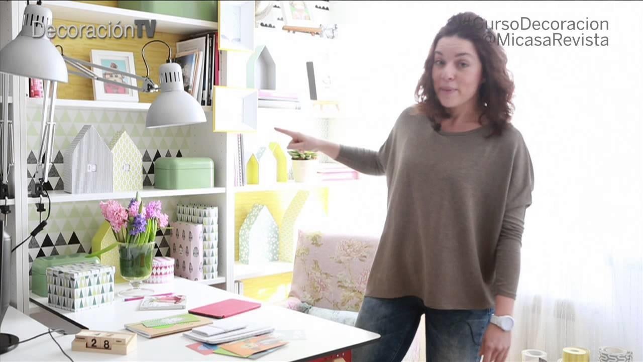 Curso de decoración Micasa: Cómo decorar un rincón de trabajo