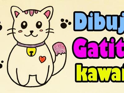 Dibuja un gatito japones kawaii Aprende a Dibujar Dibujin Dibujado