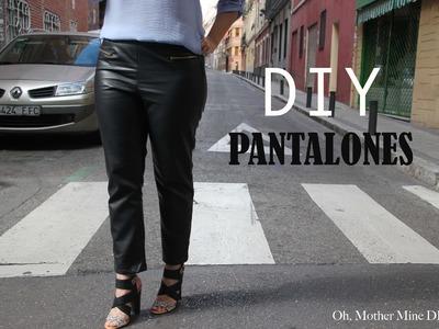 DIY Costura: Cómo hacer pantalones de cuero (patrones gratis)