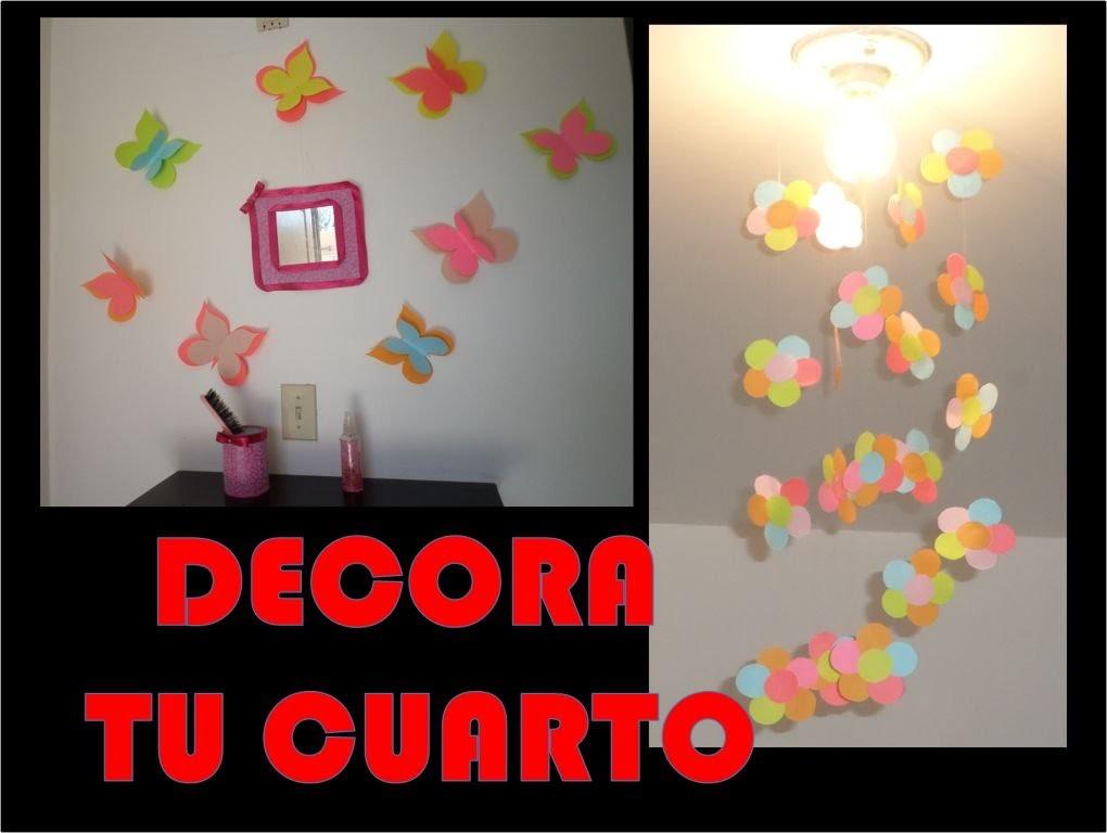 *DIY* decoracion de primavera para cuarto de niña