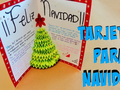 DIY - Tarjeta de arbol en 3D {Pop-up}. Tarjetas para Navidad