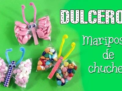 Dulcero de mariposas | decoración para fiestas infantiles