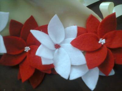 Flores de pañolenci II. Fabric flowers II. proyecto 208
