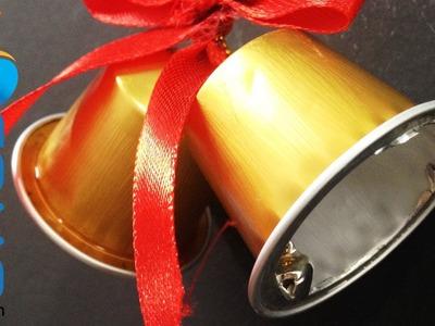Hacer adornos de Navidad con cápsulas de Nespresso - Campanas