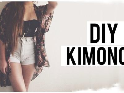 HAZ UN KIMONO EN MINUTOS! DIY ♡ | Danielalala