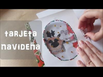 Haz una tarjeta de felicitación navideña [Manualidades para niños] Especial Navidad V