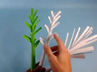 Manualidad para pequeños: árboles de papel
