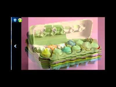 Manualidades con el carton de los huevos
