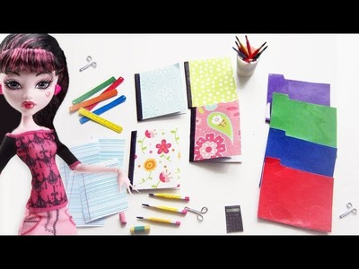Manualidades para muñecas: útiles escolares en miniatura para muñecas  - 10 manualidades