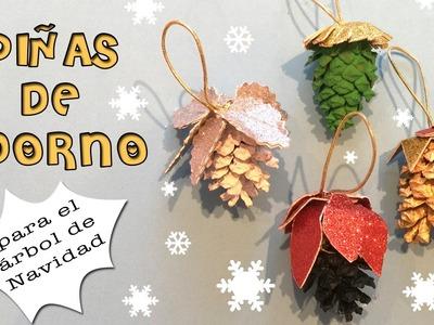 Piñas de adorno para el árbol de navidad