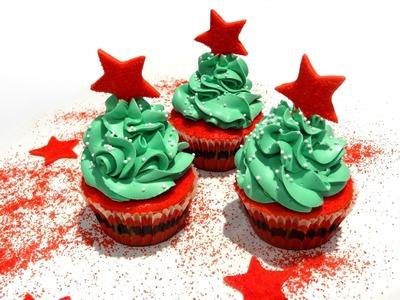 Receta: Cupcakes de chocolate Suchard -- Motivos navideños -- buttercream de merengue