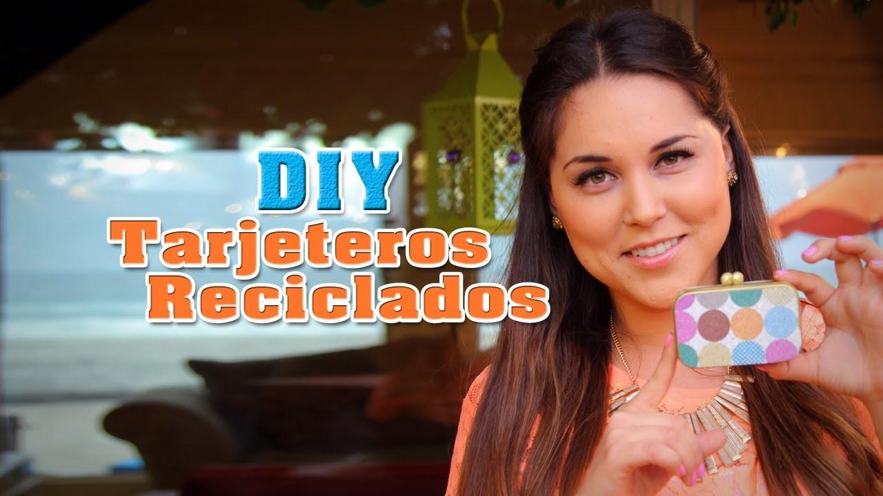 Tarjetero o Monedero Reciclado. Recycled Cardholder (DIY) - Fun DIY's con Karla