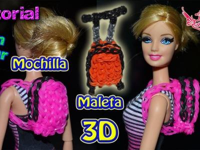 ♥ Tutorial 2 en 1: Mochila y maleta en 3D de gomitas (sin telar) ♥