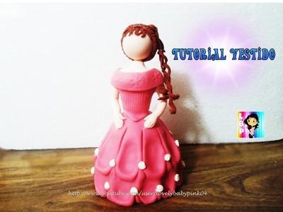 Tutorial Vestido Princesas porcelana fria - Muñecas para pastel cold porcelain