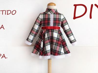 Vestido niña de capa. Vídeo de costura infantil.