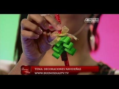 Árbolito navideño en diadema | Curso de Diademas | Manualidades queternura.com