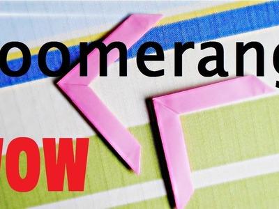 Boomerang de papel !!!