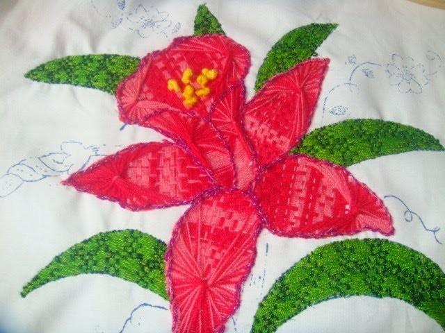 Bordado Fantasía  Flor Orquidea  con marimur  314