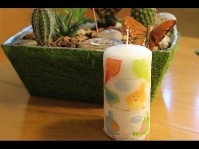 Cómo decorar una vela con decoupage | facilisimo.com