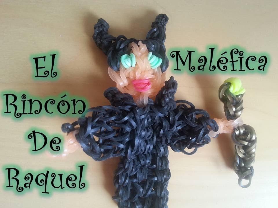 Como hacer a Malefica con gomitas rainbow loom