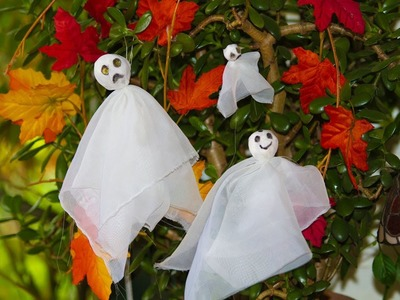 Como hacer Fantasmas para el  Arbol de Halloween