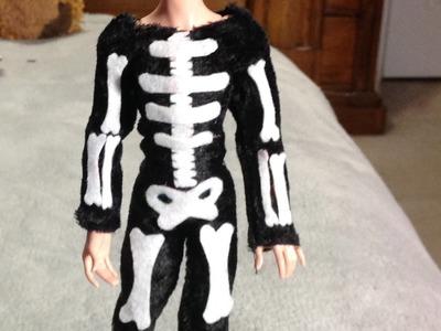 Como hacer un disfraz de esqueleto para tus muñecos.