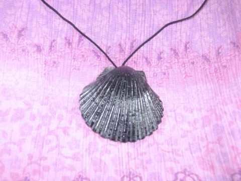 Como hacer  un simple collar usando una concha marina
