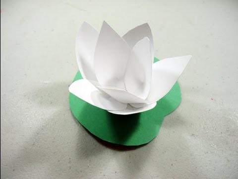 Como hacer una flor de loto