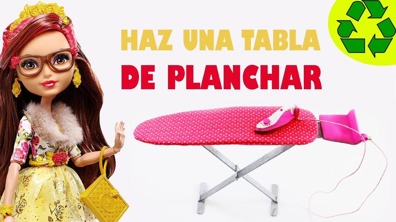 Cómo hacer una tabla  de planchar realista para tus muñecas - Manualidades para muñecas