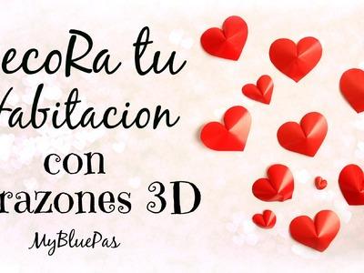 Decora tu Habitacion con corazones 3D