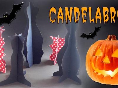 Decoración de Halloween: Candelabros de cartón