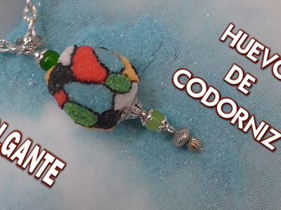 DIY COLLAR DE HUEVO DE CODORNIZ - PENDANT MADE WITH QUAIL EGG