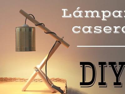 DIY Lámpara de madera y lata