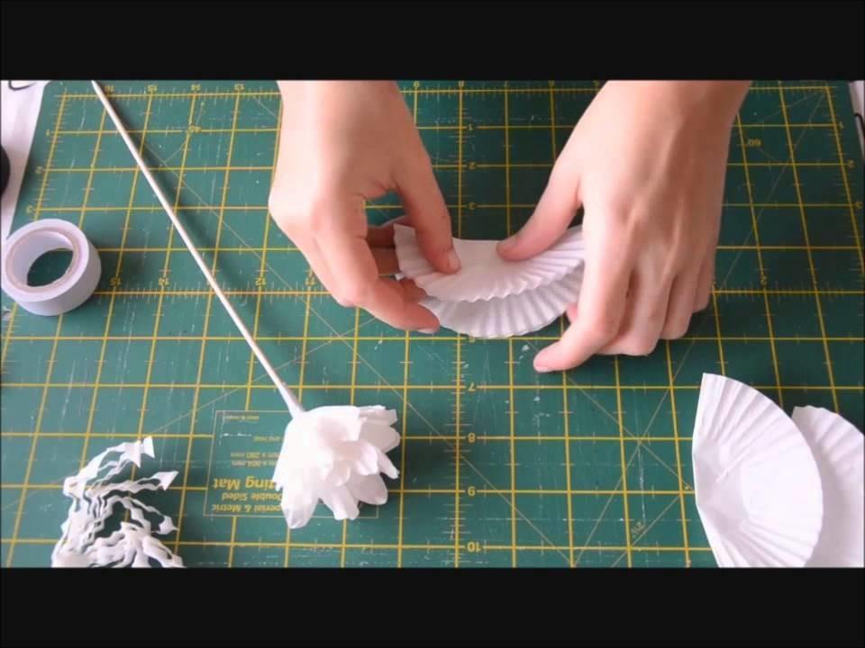 Flor con molde de papel