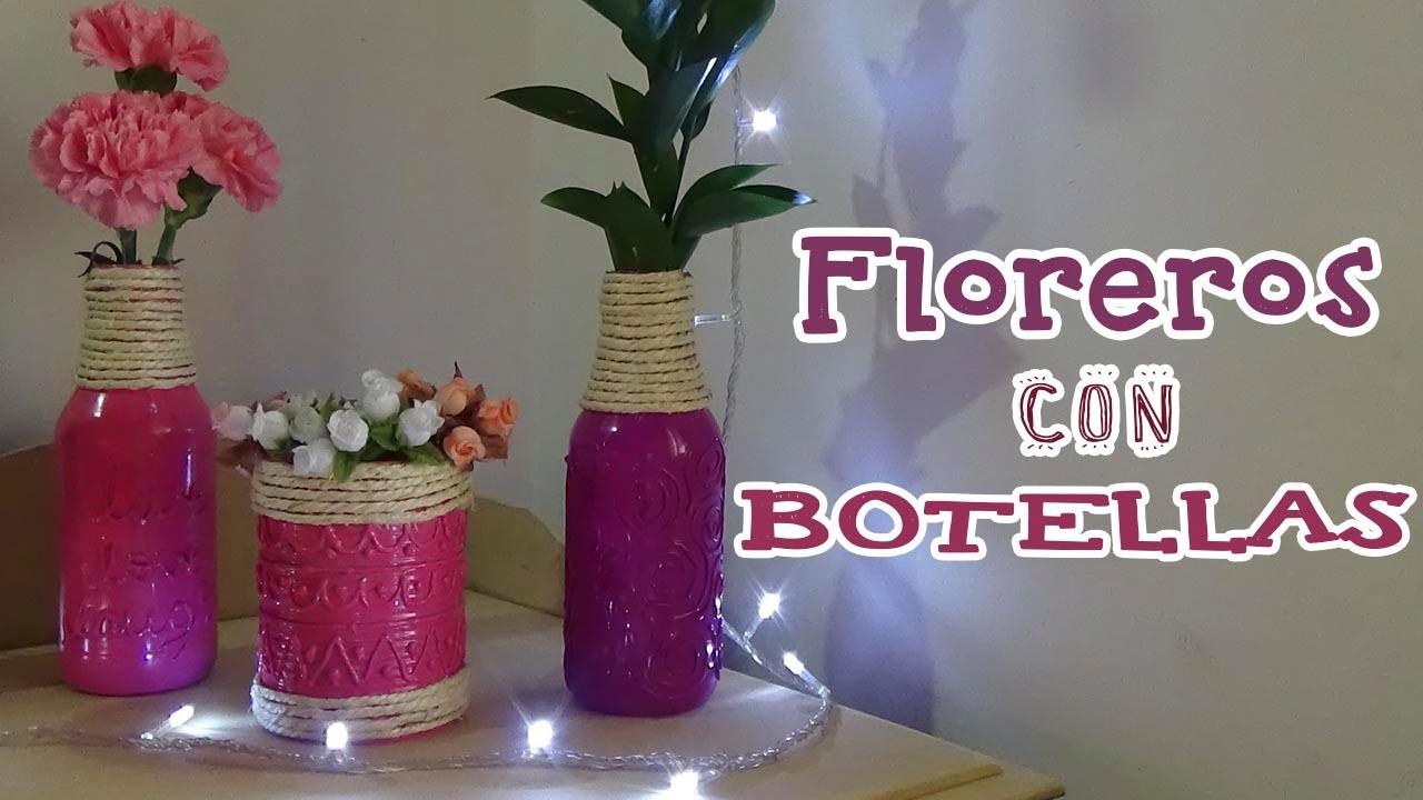 Floreros con botellas de vidrio recicladas - Candy Bu