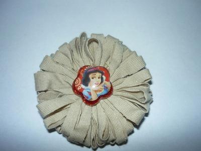 Flores redondas en tela para decoracion de accesorios No.046 Manualidades la Hormiga