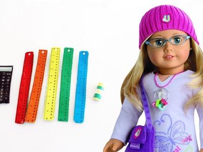 Haz una calculadora,  reglas y pegamento para muñecas - Manualidades para muñecas