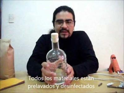 Lampara de botella Ecolocadas Recicrea2 # 5