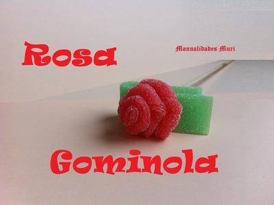 Manualidades, como hacer una Rosa de Gominola. Modelo 1