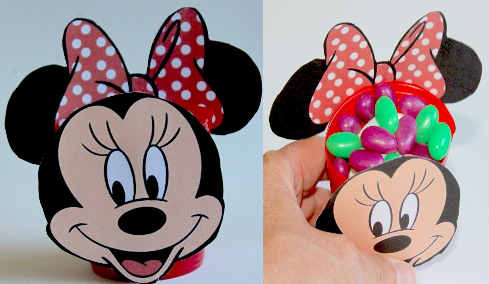 Minnie Mouse para chuches o caramelos. Minnie favor box
