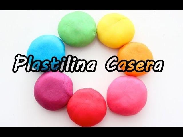 Plastilina Casera para niños tipo Play doh  MEJORADA!! FÁCIL!! NO TOXICA!!