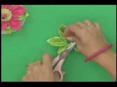 Sonia Franco. Programa Nuestra Casa. Flores de tela y cintas  1.5
