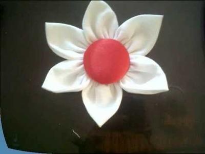 TUTORIAL: como hacer una flor en tela.