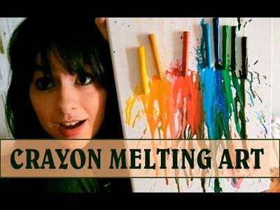 VIVE FUERTE 4: Crayon melting art + Saludo LuzuVlogs | FIZPIRETA