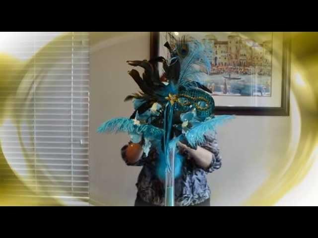 Centro de Mesa De Mascara y Flores de Latex CM_072 Tutorial E&C The Twins