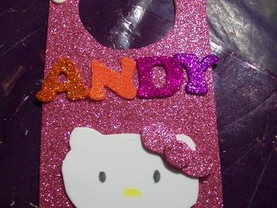 Colgante para Puerta Hello Kitty