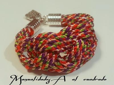 Como hacer pulsera con nudo Josefina   es.PandaHall.com