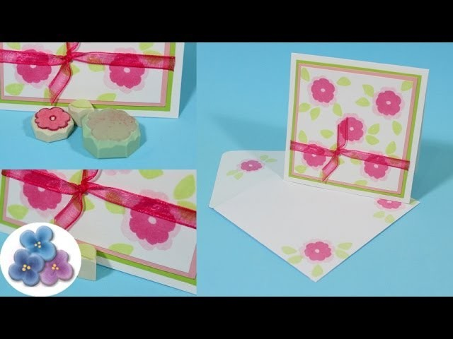 Como Hacer Sellos de Goma *Making stamps* Carvar Sellos Decorativos Tutorial Scrapbook Pintura Facil