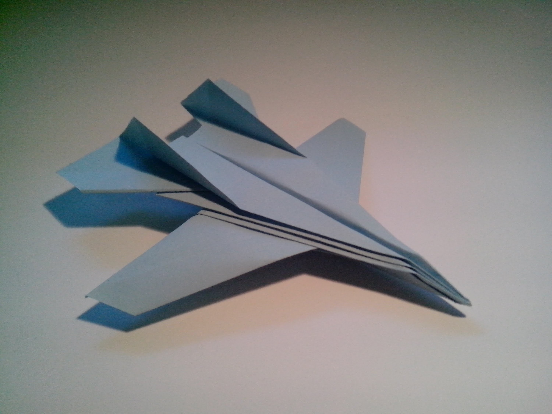 Como hacer un avión de papel F-14 Tomcat