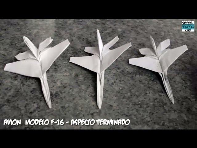 Como Hacer un Avión de Papel Modelo F-16 Fácil y Rápido (Origami)